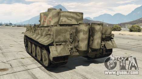GTA 5 Panzerkampfwagen VI Ausf. E Tiger rear left side view