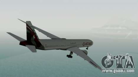 Boeing 777-9x Qatar Airways for GTA San Andreas left view