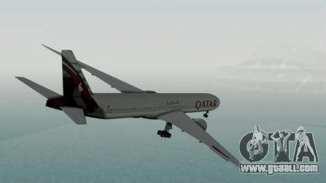 Boeing 777-9x Qatar Airways for GTA San Andreas left view