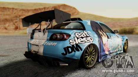 Mazda RX-8 Itasha for GTA San Andreas left view
