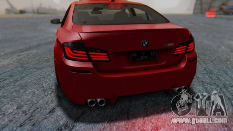 BMW M5 2012 Stance Edition for GTA San Andreas engine