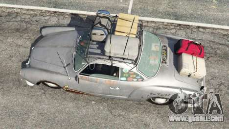 GTA 5 Volkswagen Karmann-Ghia Typ 14 1967 back view