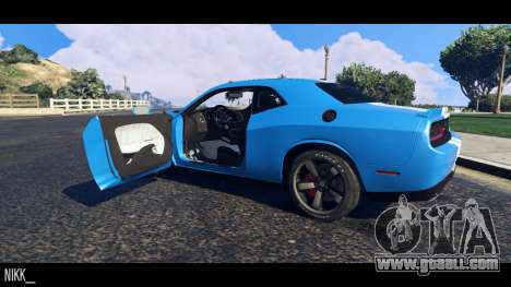 GTA 5 Dodge Challenger 2015 back view