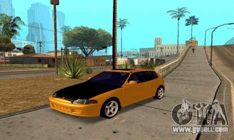 Honda Civic EG6 Tunable for GTA San Andreas side view