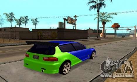 Honda Civic EG6 Tunable for GTA San Andreas right view