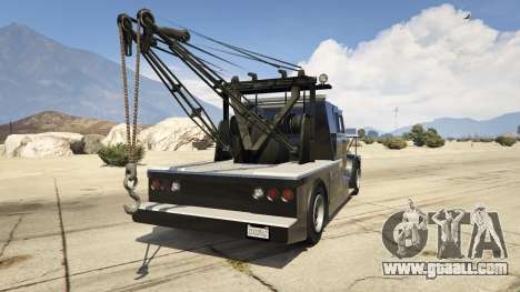GTA 5 Police Towtruck rear left side view