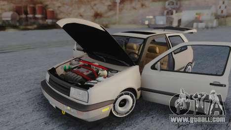 Volkswagen Golf Mk3 for GTA San Andreas inner view