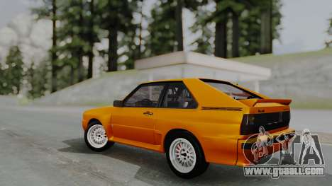 Audi Quattro Coupe 1983 for GTA San Andreas inner view