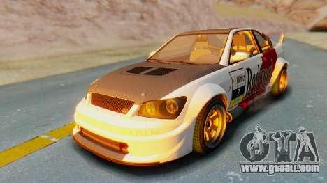 GTA 5 Karin Sultan RS Carbon IVF for GTA San Andreas interior