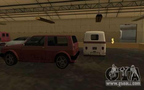 The garage at the docks for GTA San Andreas third screenshot