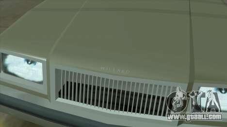 Willard Majestic for GTA San Andreas upper view