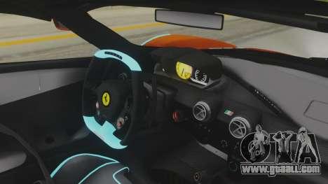 Ferrari LaFerrari TRON Edition v1.0 for GTA San Andreas inner view