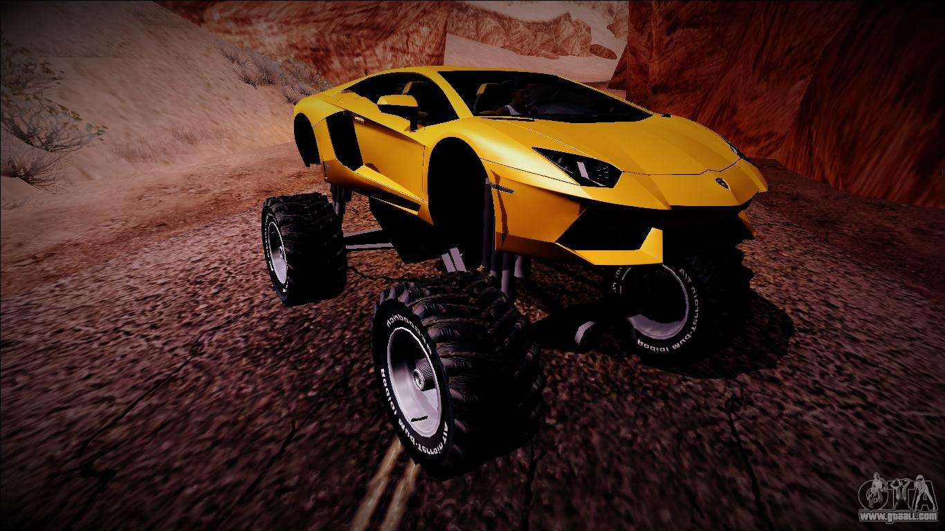 Lamborghini Aventador Monster Truck For Gta San Andreas