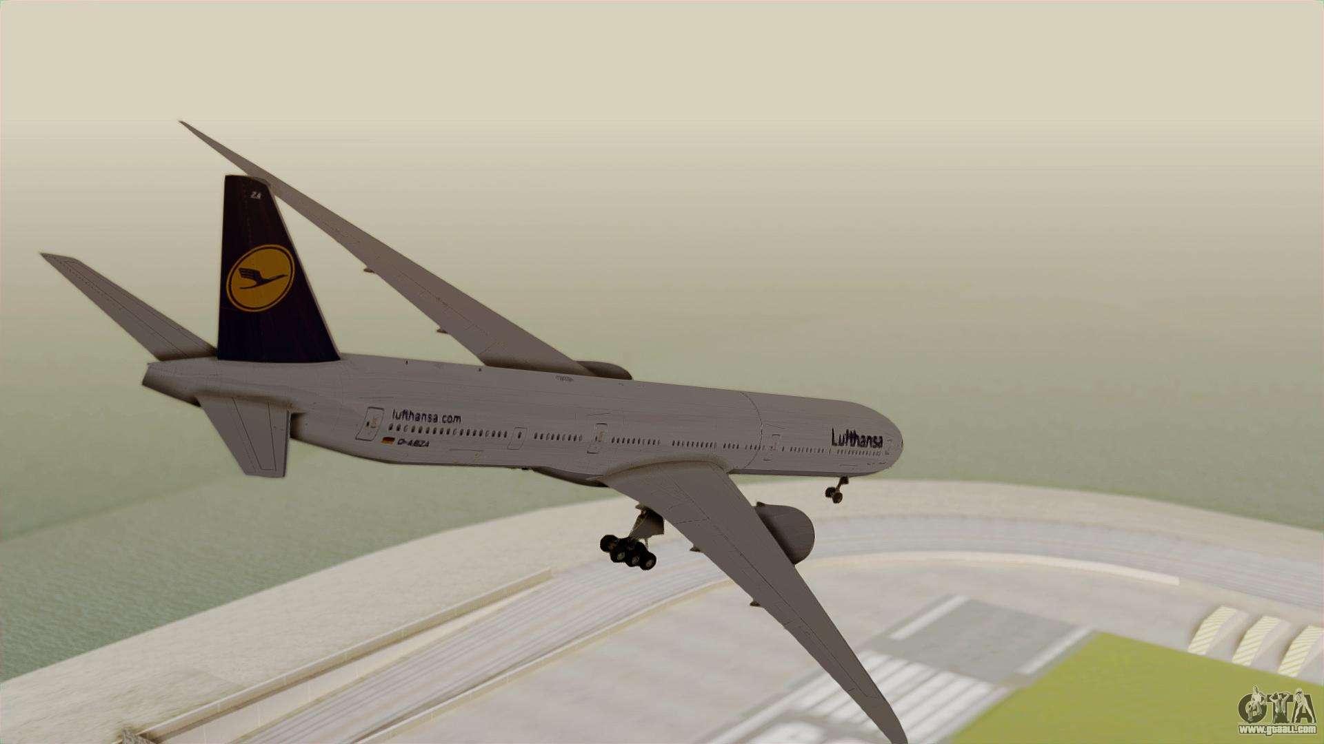 Boeing 777 9x deutsche lufthansa for gta san andreas left view