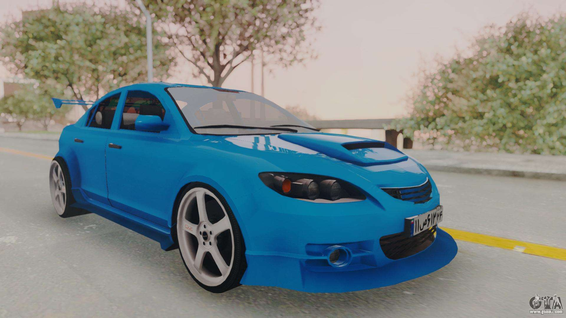 Mazda 3 full tuning for gta san andreas