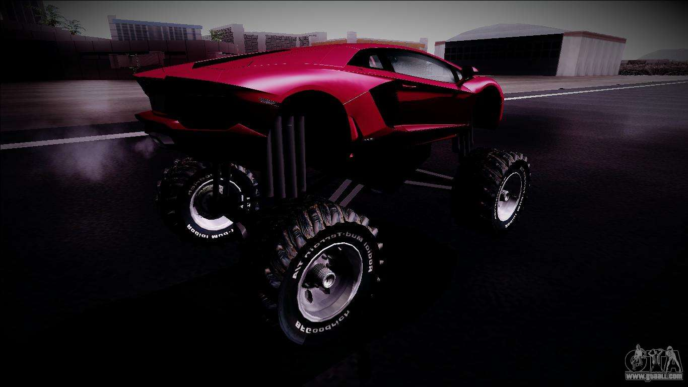 Aventador >> Lamborghini Aventador Monster Truck for GTA San Andreas