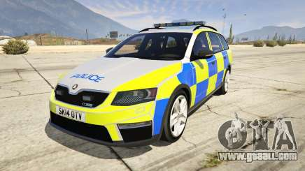 2014 Police Skoda Octavia VRS Estate for GTA 5