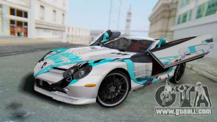 Mercedes-Benz SLR McLaren 722 Hatsu Miku for GTA San Andreas