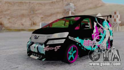 Toyota Vellfire Miku Pocky Exhaust for GTA San Andreas