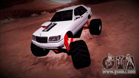 Mercedes-Benz W140 Monster Truck for GTA San Andreas left view