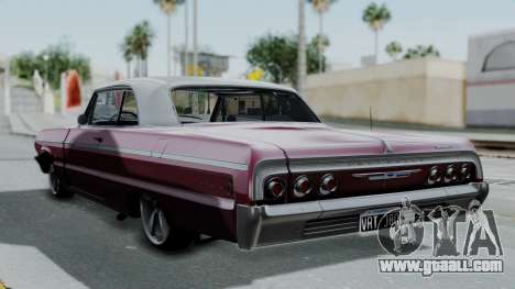 Chevrolet Impala 1964 for GTA San Andreas left view