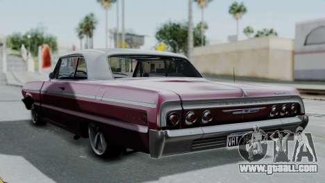Chevrolet Impala 1964 for GTA San Andreas left view