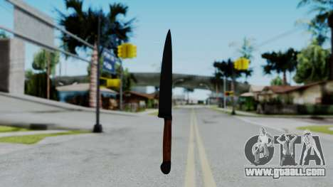 No More Room in Hell - Kitchen Knife for GTA San Andreas second screenshot