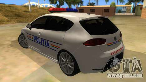 Seat Leon Cupra Romania Police for GTA San Andreas back left view