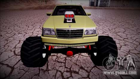 Mercedes-Benz W140 Monster Truck for GTA San Andreas back view