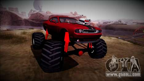 2009 Dodge Challenger SRT8 Monster Truck for GTA San Andreas back view