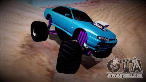 Nissan Silvia S14 Monster Truck for GTA San Andreas upper view