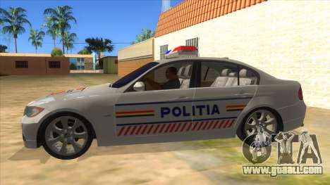 BMW 330XD Romania Police for GTA San Andreas left view