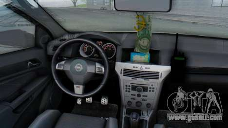 Opel-Vauxhall Astra Policia for GTA San Andreas inner view