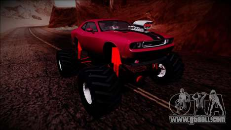 2009 Dodge Challenger SRT8 Monster Truck for GTA San Andreas upper view