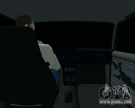 VAZ 2107 Hobo for GTA San Andreas inner view