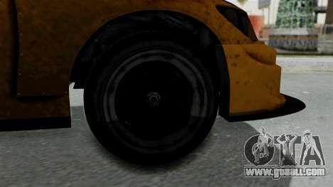 GTA 5 Karin Sultan RS Drift Big Spoiler for GTA San Andreas back left view