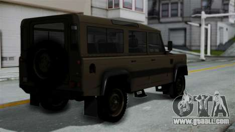 Land Rover Defender Vojno Vozilo for GTA San Andreas left view