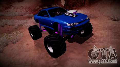 Nissan Silvia S14 Monster Truck for GTA San Andreas engine