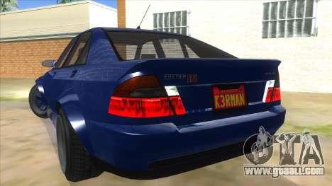 GTA V Karin Sultan RS 4 Door for GTA San Andreas bottom view