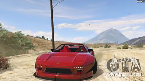 GTA 5 Honda NSX Rocket Bunny back view