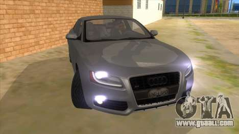 Audi S5 Sedan V8 for GTA San Andreas back view