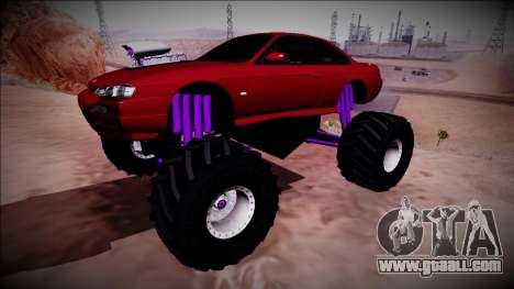 Nissan Silvia S14 Monster Truck for GTA San Andreas back view