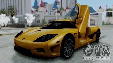 Koenigsegg CCXR 2013 for GTA San Andreas
