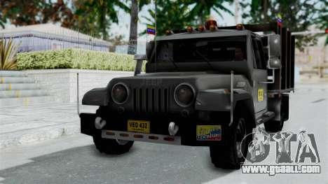 Jeep con Estacas Stylo Colombia for GTA San Andreas