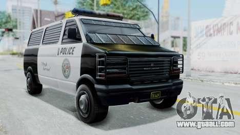 GTA 5 Declasse Burrito Police Transport IVF for GTA San Andreas
