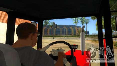 Massley Ferguson Tractor for GTA San Andreas inner view