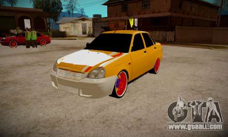 Lada 2170 Priora Gold for GTA San Andreas