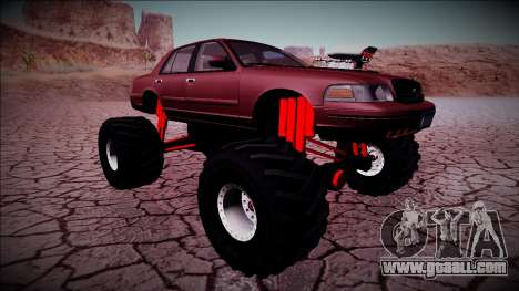 2003 Ford Crown Victoria Monster Truck for GTA San Andreas bottom view