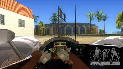 Audi R10 for GTA San Andreas inner view