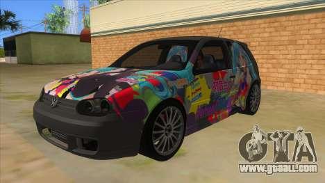 Volkswagen Golf R32 Hatsune Miku Itasha for GTA San Andreas